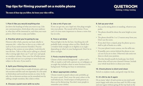 How to film yourself on a mobile phone