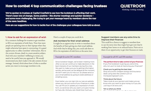 How to combat 4 top communication challenges facing trustees